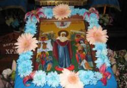 Престольный праздник храма города Доброполья в честь иконы